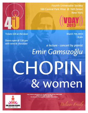 Chopin & Women w Chatty Pianist, 2013